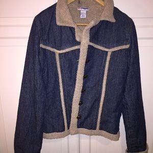 Jackets & Blazers - Old school faux shearling denim jacket